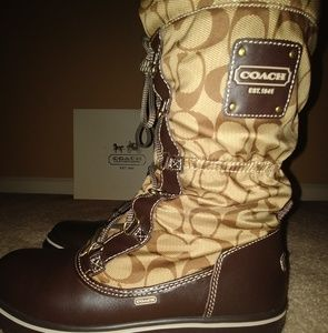 Coach Women Signature Snow Boots